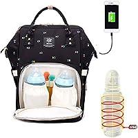 Shellme 新型 マザーズバッグ ベビーバッグ ママバッグ アウトドアバッグ ママリュック USB線付き 充電 保温ポケット付き 盗難防止 おしゃれ 妊婦外出用 おしゃれ 多機能 大容量 シンプル 防水 通学 通勤 旅行