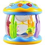 Aylincool 音楽玩具夢海の楽園回転ライト音楽ドラム子供知育玩具おもちゃ楽器おもちゃ楽器赤ちゃん楽器
