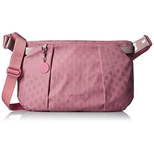 [イザック] Polka Dots スクエアショルダーバッグ  Y71-03-02 50 ピンク