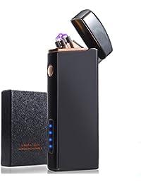 kurevy 電子ライター usb充電式 led電池残量表示 プラズマ ターボ アーク 小型 軽量