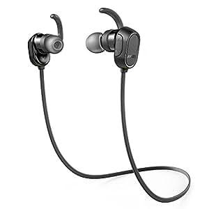 Anker SoundBuds Sport (Bluetooth 4.0 防水イヤホン) 【8時間連続再生 / IPX4防水機能搭載 / 内蔵マイク搭載】 iPhone、Android各種対応 スポーツイヤホン (ブラック) A3233011