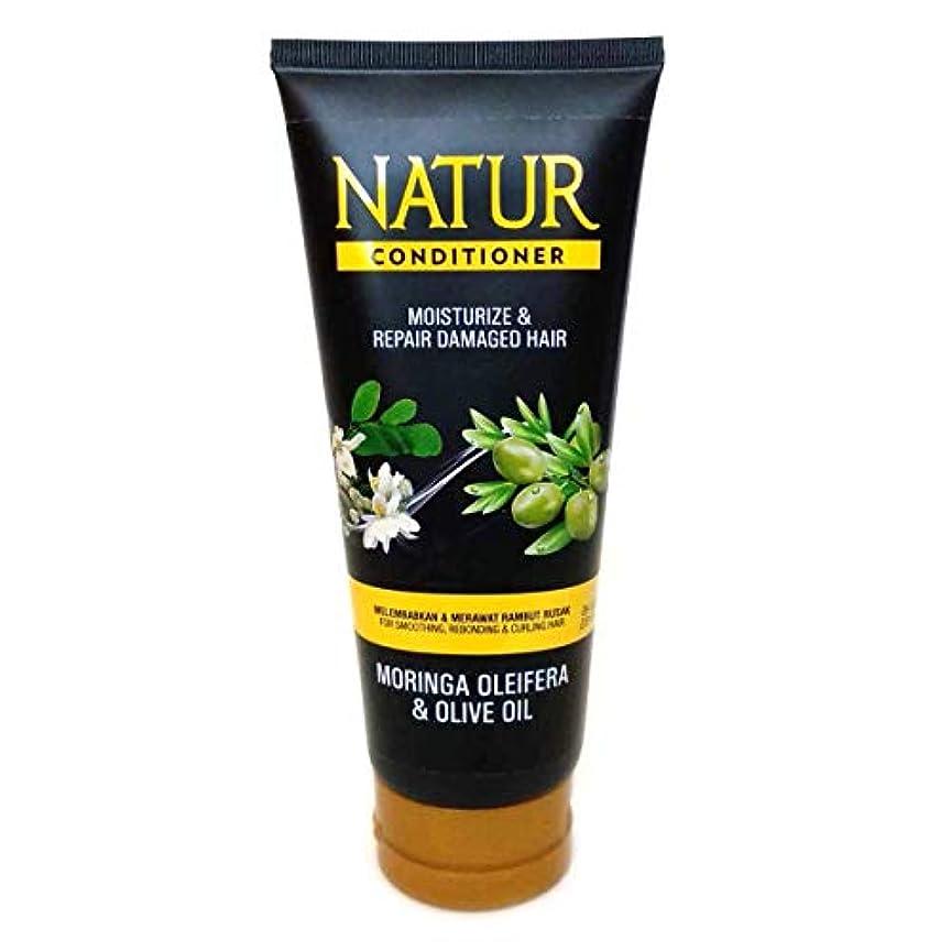 簡略化する許可安定NATUR ナトゥール 天然植物エキス配合 ハーバルコンディショナー 165ml Moringa oleifera&Olive oil モリンガ&オリーブオイル [海外直商品]