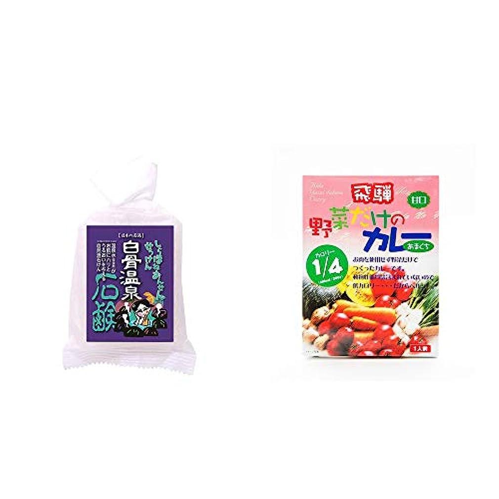 [2点セット] 信州 白骨温泉石鹸(80g)?天領食品 野菜だけのカレー 【甘口】 (1食分)