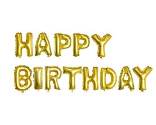 【la select】ハッピーバースデー バルーン 風船 HAPPY BIRTHDAY+(ハンドポンプ  ・貼付シール) [ゴールド]