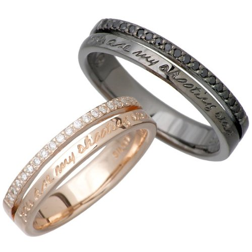 HEART OF CONCEPT ハートオブコンセプト ストーン デザイン シルバー ペアー リング キュービック 指輪 5~21号 HCR-230PK-BK-P