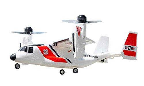 垂直離着陸機 V22 ラジコンヘリコプター飛行機オスプレー白...