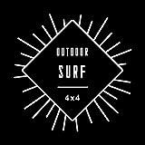 4X4 OUTDOOR SURF サーフ カッティング ステッカー ホワイト 白