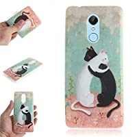 Xiaomi Redmi 5 シェル, Moonmini プレミアム プレミアム ディフェンダーカバーケース [ スクラッチ耐性 ] カバー シェルs Xiaomi Redmi 5 Black White Cats
