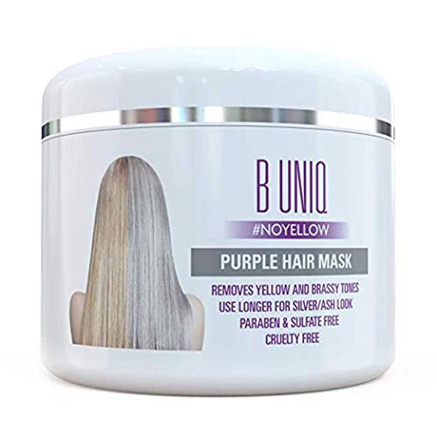 ワイドコンテンポラリー料理紫 ヘアマスク ヘアトナー Purple Hair Mask For Blonde, Platinum & Silver Hair - Banish Yellow Hues: Blue Masque to Reduce...