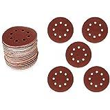 ValueHall 100 PCS Sanding Discs Pads 5 Types 125mm Sander Pad, Hook and Loop 60# 80# 120# 180# 240# Sandpaper Assorted V7036-