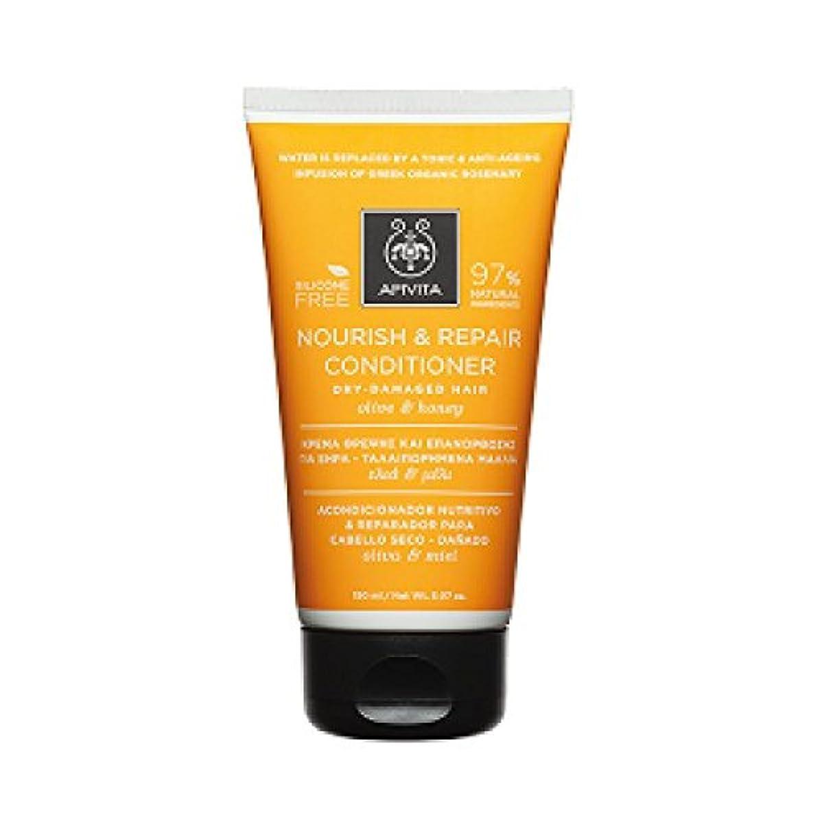 神経宿泊施設報いるアピヴィータ Nourish & Repair Conditioner with Olive & Honey (For Dry-Damaged Hair) 150ml [並行輸入品]