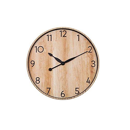 掛け時計 ウオールクロック サイレント 木目調 アラビア数字 簡単 時計