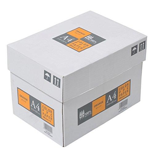 カラーコピー用紙 A4 2500枚 500枚×5冊 オレンジ