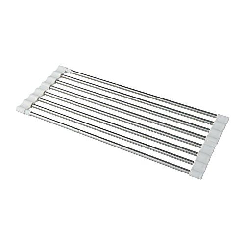 レック(Lec) 水切りラック ホワイト (40~60)×17×1cm KK00101