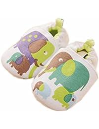 ベビーファーストウォーカーソフトソールコットン幼児の靴緑の象