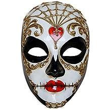 Venetian Full Face Mask Volto Teschio Corazon for Men and Women