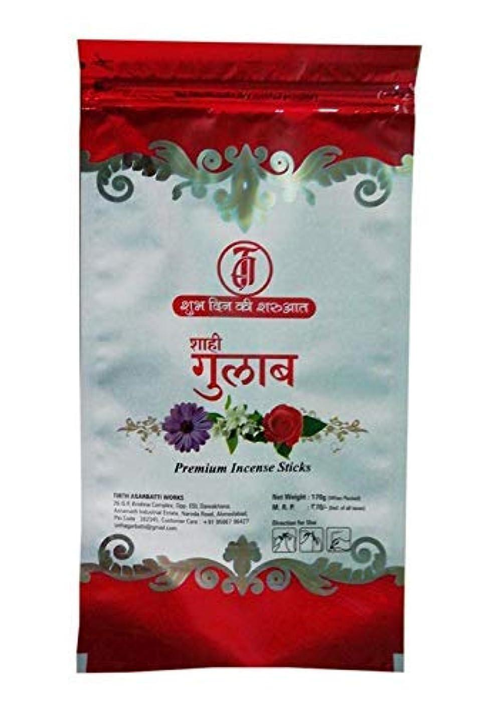 カリキュラム餌通訳TIRTH Sahi Gulab Premium Incense Stick/Agarbatti (170 GM Pack) Pack of 2