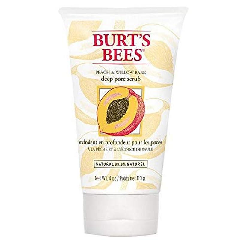 本会議タバコ偽造[Burt's Bees] バーツビーの桃とWillowbark深いポアスクラブ110グラム - Burt's Bees Peach and Willowbark Deep Pore Scrub 110g [並行輸入品]