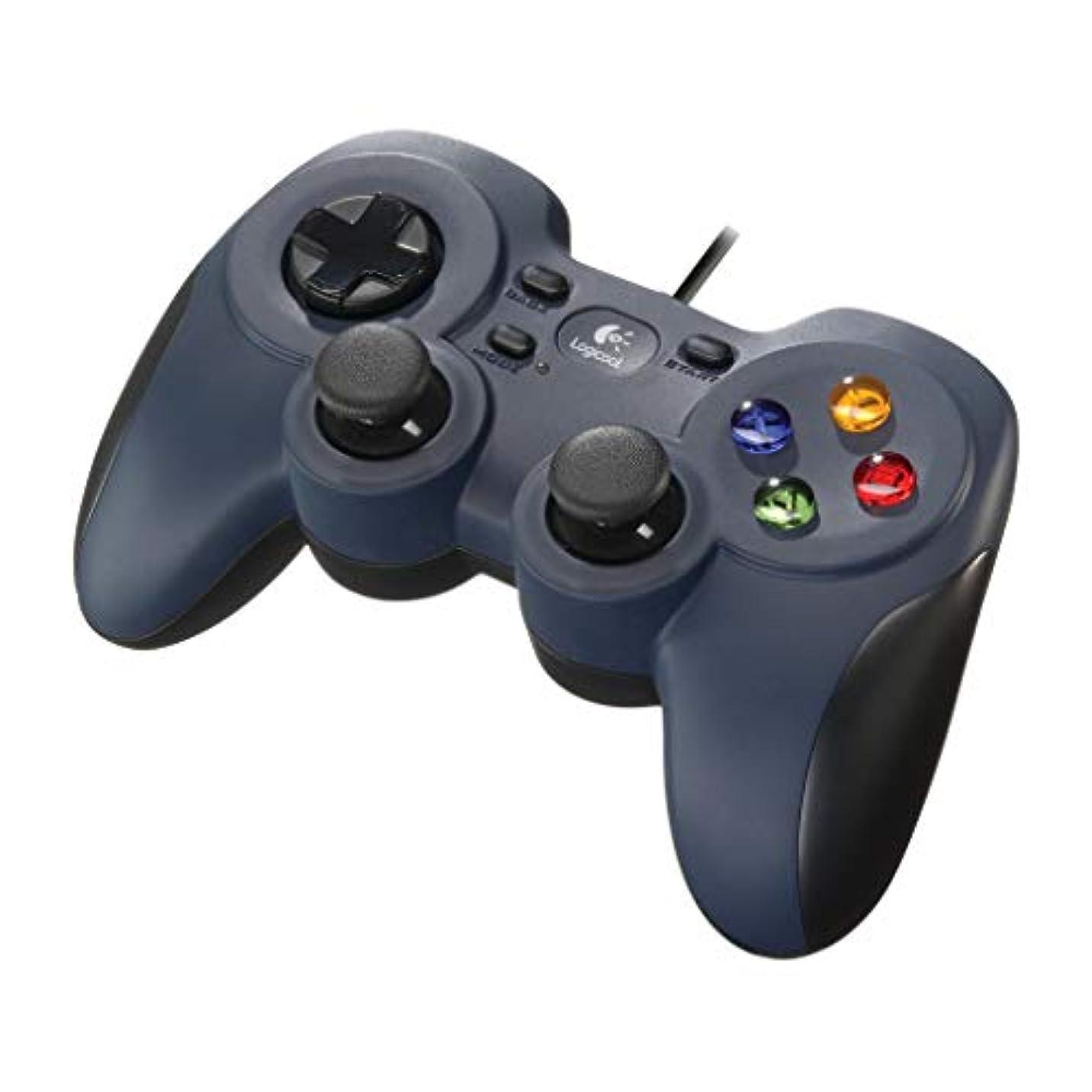 資源熟した行うLogicool G ゲームパッド F310r ダークブルー PC ゲームコントローラー  FF14推奨 Xinput F310 国内正規品 2年間メーカー保証
