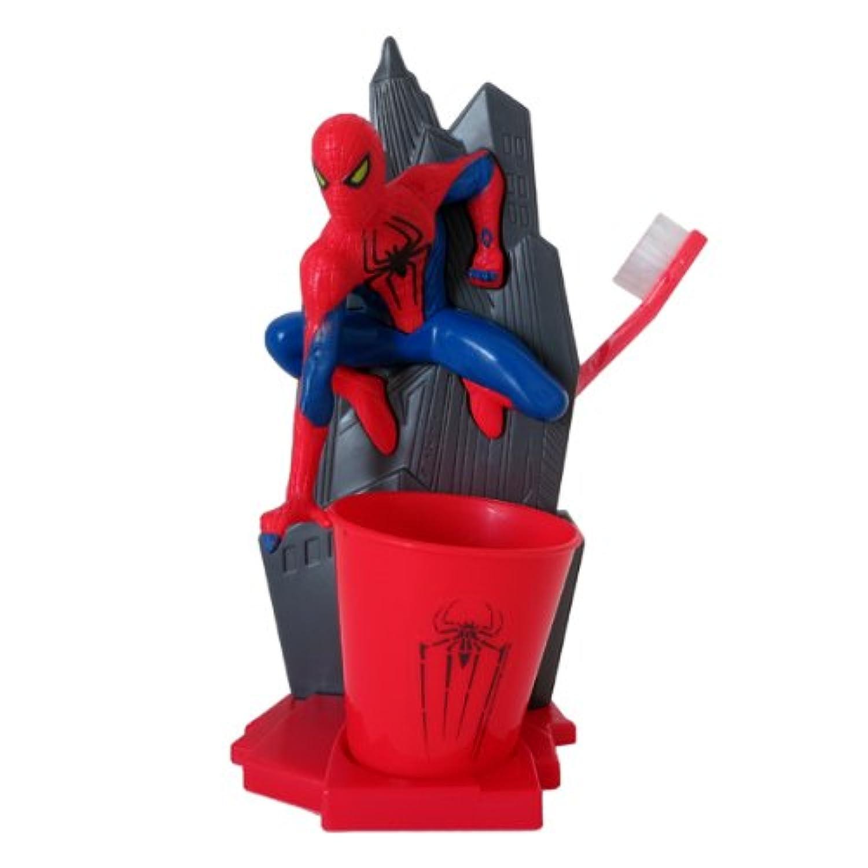 スパイダーマン(SPIDERMAN) 子供はみがきセット(歯ブラシ/コップ/ハブラシスタンド)