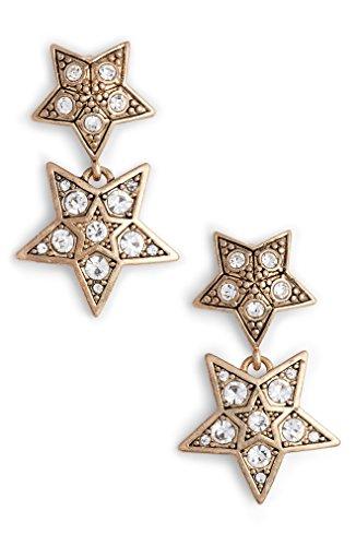 ジェニー・パッカム アクセサリー ピアス&イヤリング Jenny Packham Double Drop Earrings Gold/ Crys [並行輸入品]
