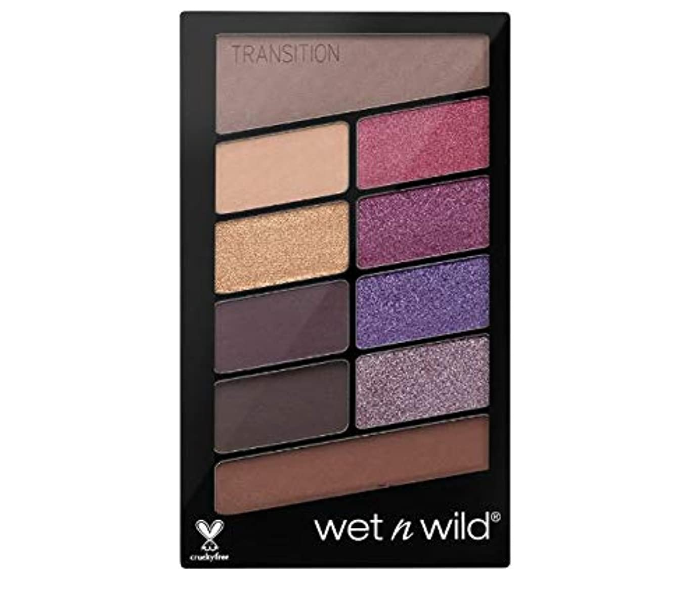ポルティコ静める式Wet N Wild Color Icon Eyeshadow 10 Pan Palette (V.I.Purple) 海外直送 [並行輸入品]