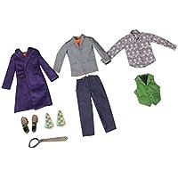 【ノーブランド品】1/6 ピエロの服 靴服 セット アクションフィギュア用スーツ 贈り物