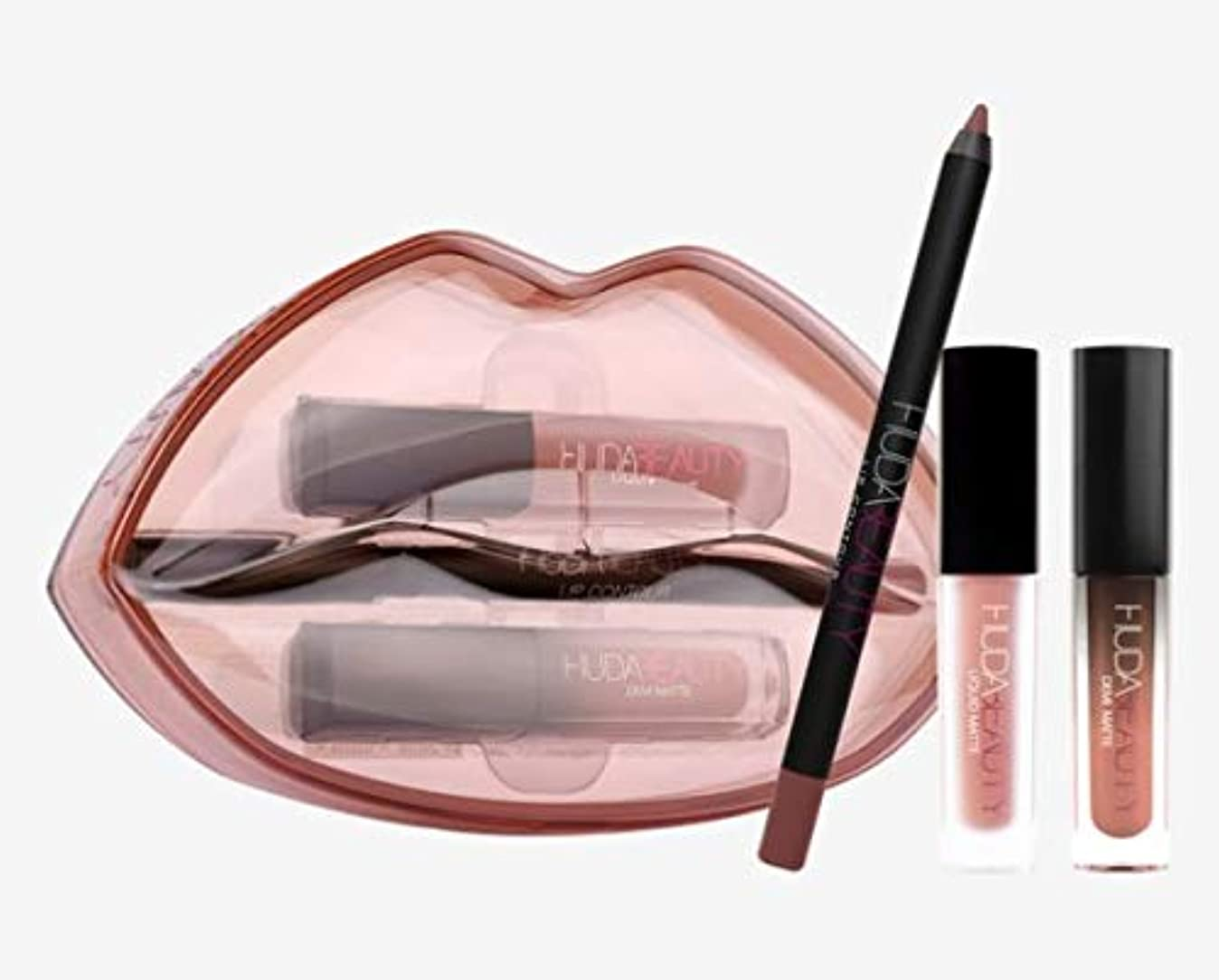 水没ミシン乳白Hudabeauty Matte & Cream Lip Set Day Slayer & Venus リップセット マットリップ