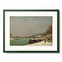 ポール・ゴーギャン Eugene Henri Paul Gauguin 「La Seine au Pont de Jena」 額装アート作品