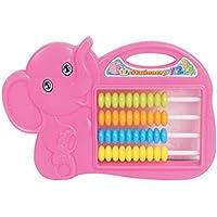 幼児期のゲーム 啓発パズル象の算術Abacus玩具子供のミニ5ファイルコンピューティングラック(ランダム色)