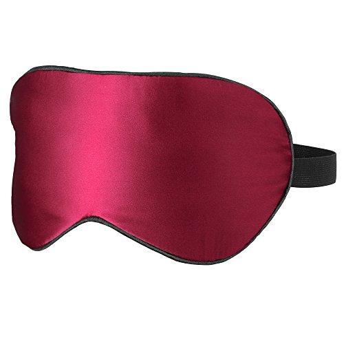 PLEMO アイマスク 天然シルクの究極の肌触り 100%シルク ソフト 軽量 睡眠 快眠 グッズ 睡眠旅行に最適 男女兼用(レッド)EM-484