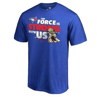 MLB Fanatics Branded Toronto Blue Jays Royal Star Wars Jedi Strong T-Shirt Tシャツ(メジャーリーグファングッズ)【並行輸入品】