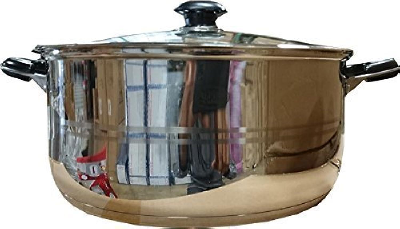 Bioexcelステンレススチール低Stock Pot with Glass Lid – から選択多くのサイズ8に30 Qt。 14クォート グリーン 87 45 73