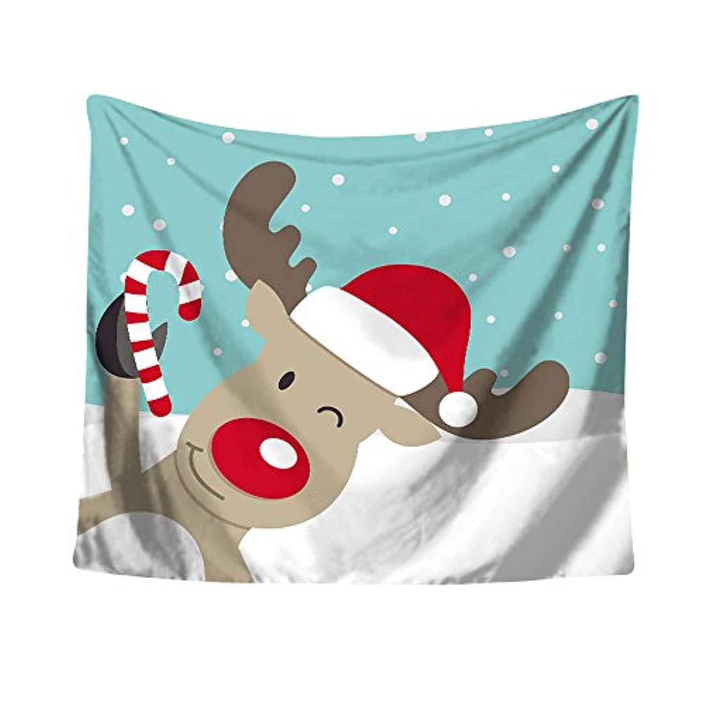 (プタス)Putars クリスマス タペストリー ビーチマット 壁掛け テーブルクロス MERRY CHRISTMAS 個性的 可愛い オシャレ ヨガマット レジャーシート ビーチ用ブランケット インテリア 63