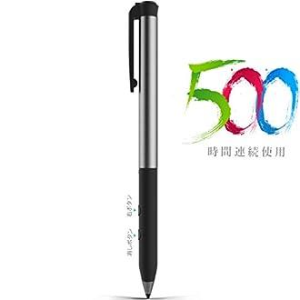 マイクロソフト認証Heiyo Surfaceペン連続500使用時間180日スタンバイスタイラスペンUSB充電式タッチペンSurface Proシリーズ/Surface Laptop/Surface Book 2に対応