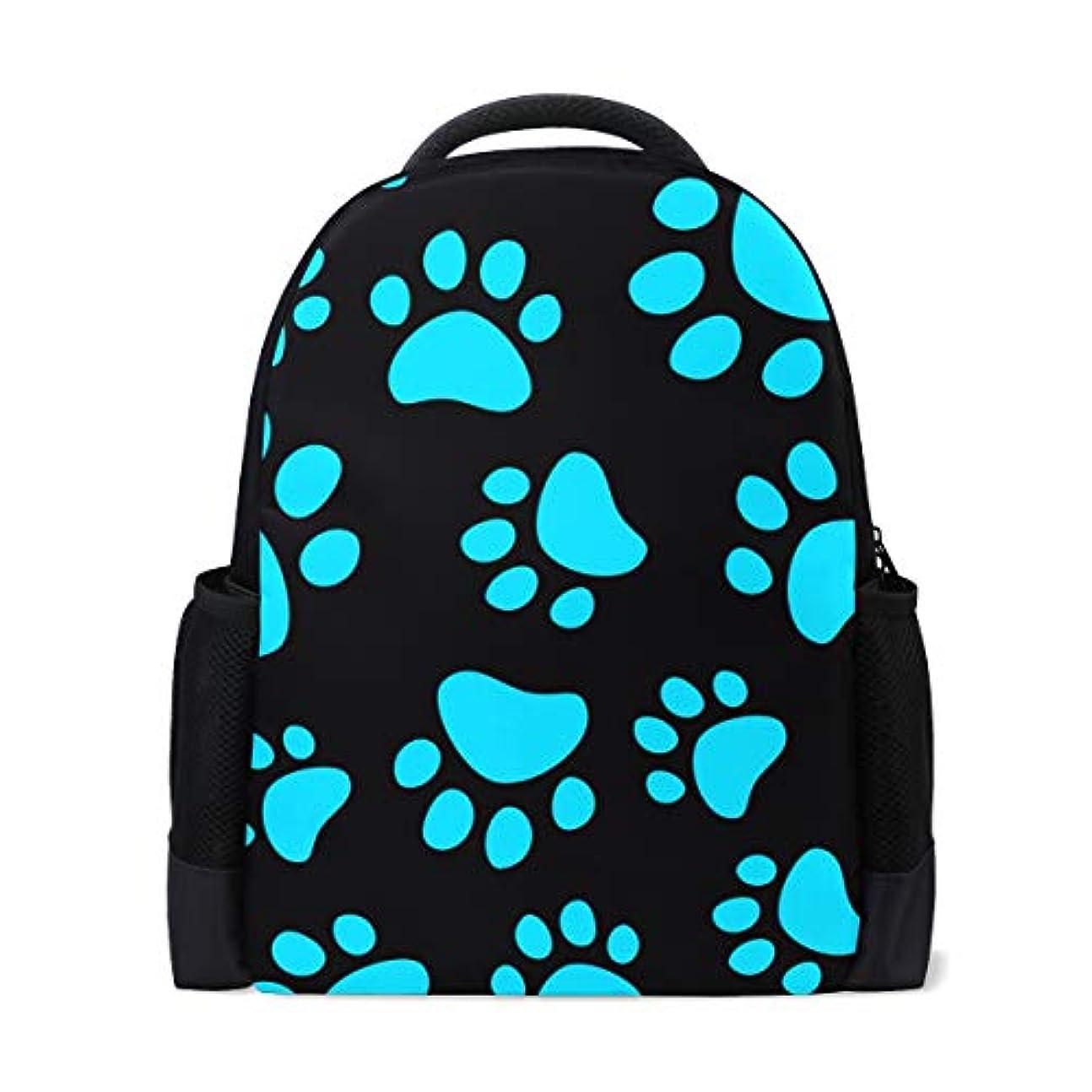 確立します伝説便宜Anmumi リュック 人気 大容量 通勤リュック 猫柄 足跡 萌え 黒 ブラック リュックサック バックパック おしゃれ レディース キッズ 通学 かわいい