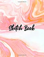 "Sketch Book: Notebook for Drawing, Writing, Painting, Sketching or Doodling, 120 Pages, 8.5"" x 11"". Light Pink Marble Background Cover Sketchbook Blank Paper Drawing and Write Journal"