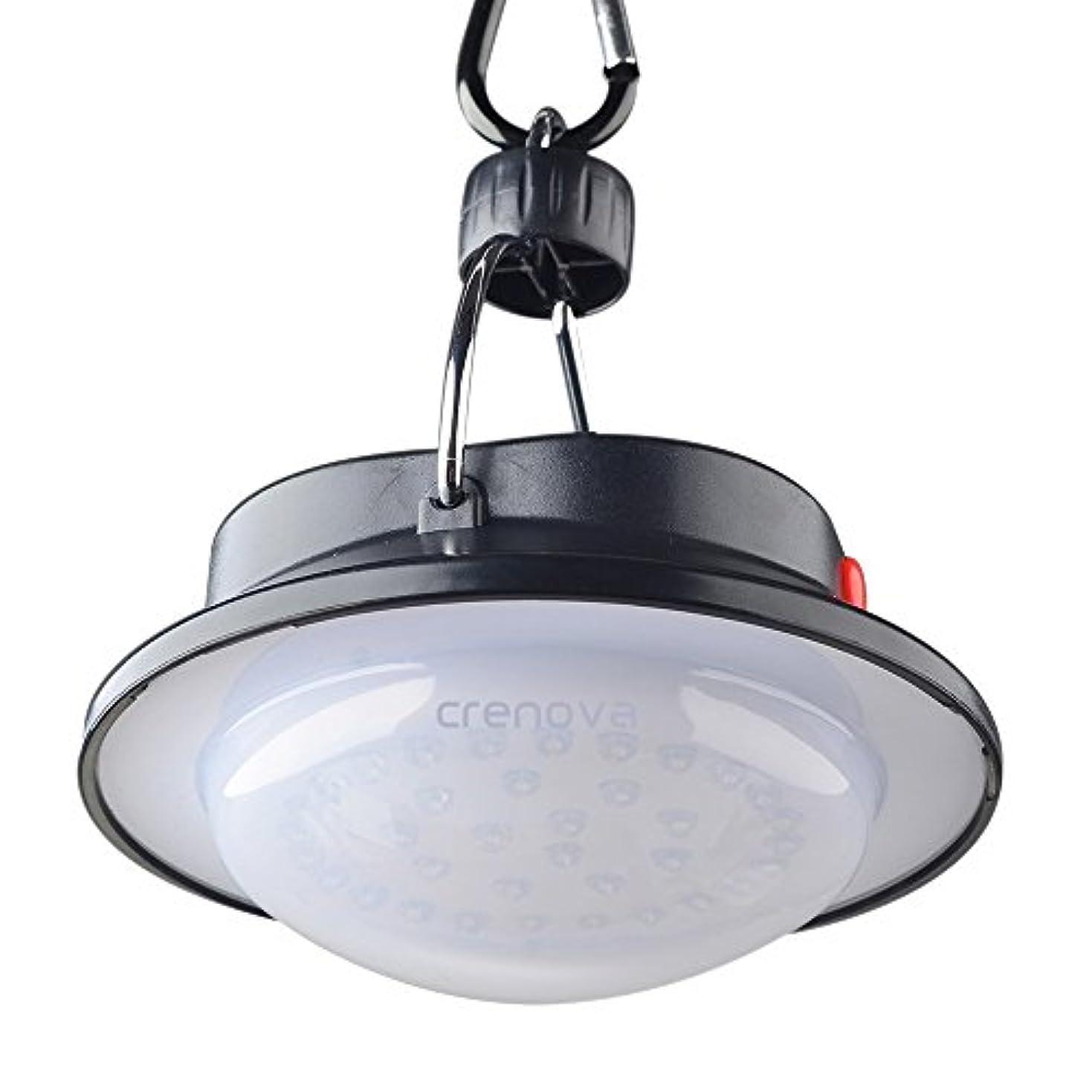 叫び声作り上げる生態学Crenova 携帯型 LEDランプ キャンプ用ライト高輝度60 LED搭載 3段階調光 LEDランタン アウトドアスポットライト