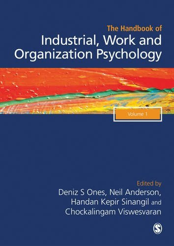 The SAGE Handbook of Industrial, Work & Organizational Psychology: V1: Personal Psychology and Employee Performance