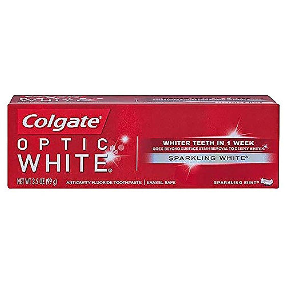変位プット買い物に行くコルゲート ホワイトニング Colgate Optic White Sparkling White 99g 白い歯 歯磨き粉 ミント