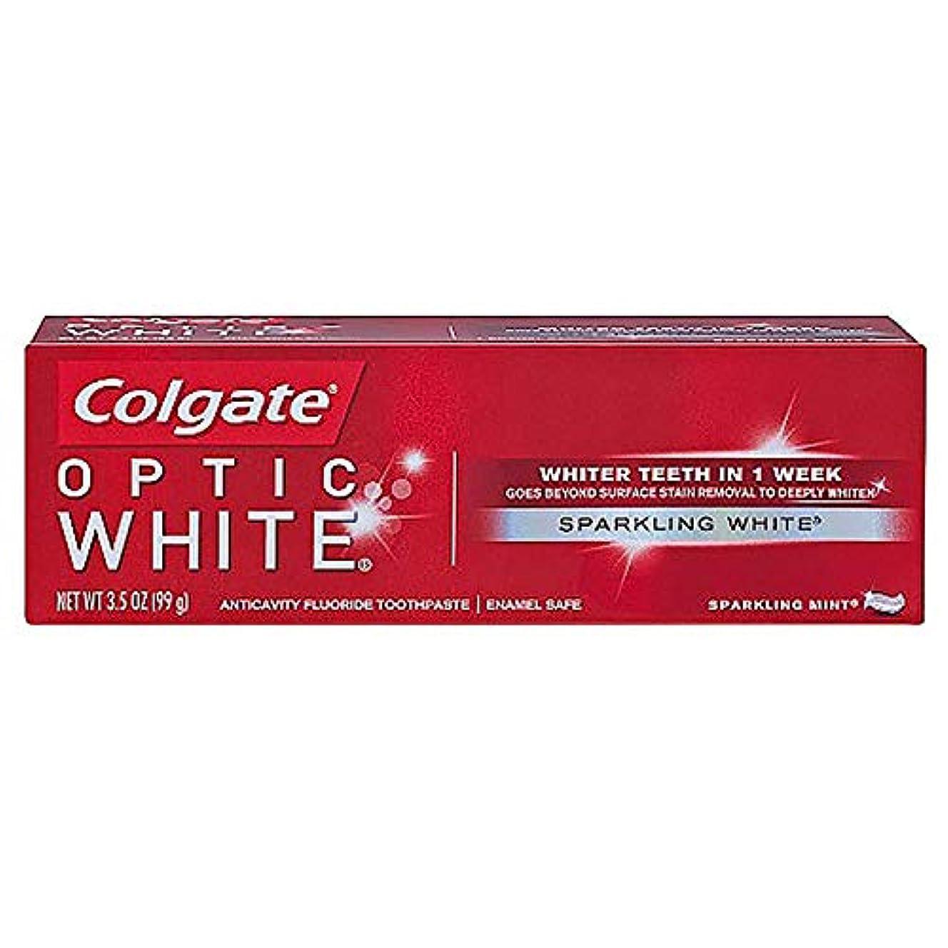 確率代理人五十コルゲート ホワイトニング Colgate Optic White Sparkling White 99g 白い歯 歯磨き粉 ミント