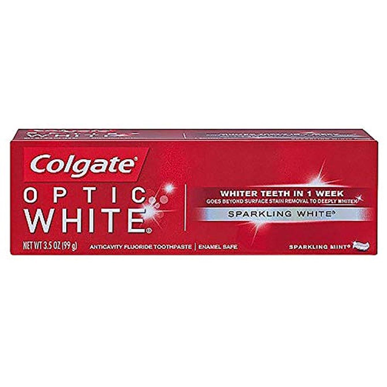 ローブ蒸留する偶然コルゲート ホワイトニング Colgate Optic White Sparkling White 99g 白い歯 歯磨き粉 ミント