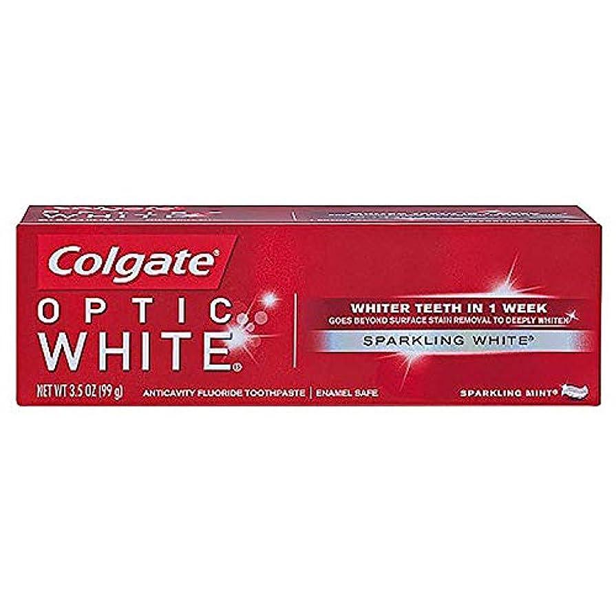 終了しました美徳レールコルゲート ホワイトニング Colgate Optic White Sparkling White 99g 白い歯 歯磨き粉 ミント