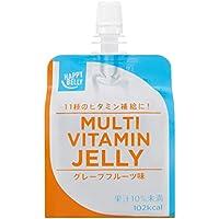 [Amazonブランド]Happy Belly マルチビタミンゼリー グレープフルーツ味 180g×24個