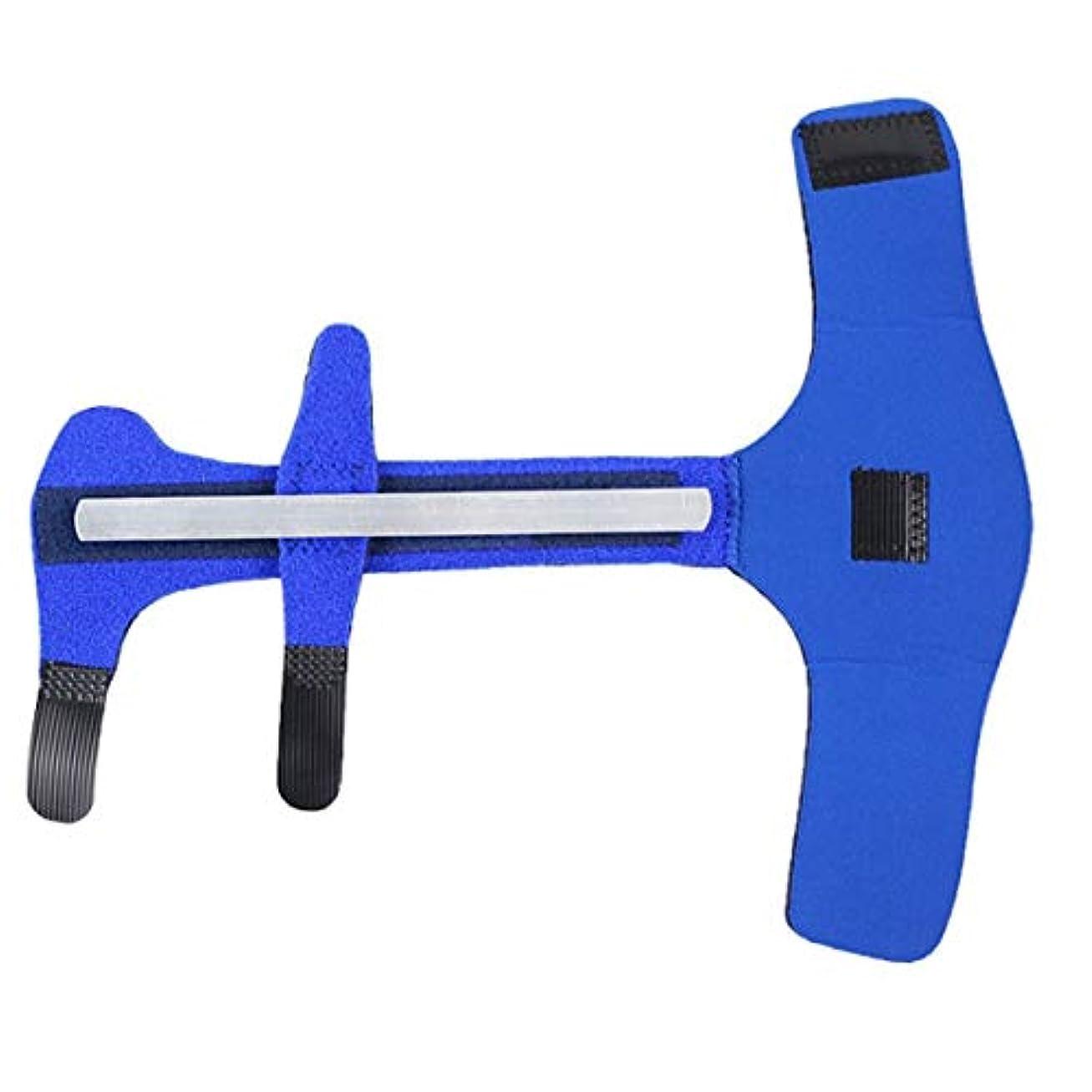 学部赤面納税者Quzama-JS スマート1 xブルーフィンガーエクステンションスプリントは、可鍛合金属ハンド矯正ブレスレットをトリガ(None Picture Color)