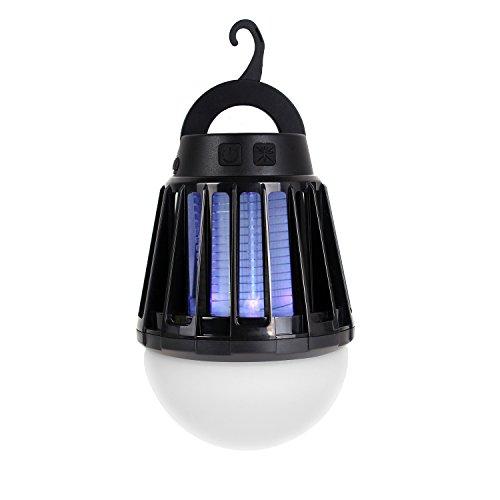 電撃殺虫器 UV紫光誘引式 静で安心 蚊取りと照明両用 2000mAH容量 ...
