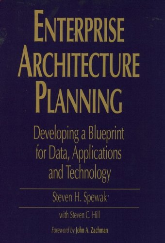 Download Enterprise Architecture Planning: Developing a Blueprint for Data, Applications, and Technology 0471599859