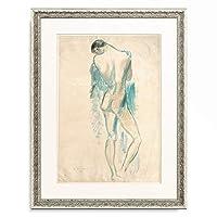 Wilhelm Lehmbruck 「Standing Youth. 1912」 額装アート作品