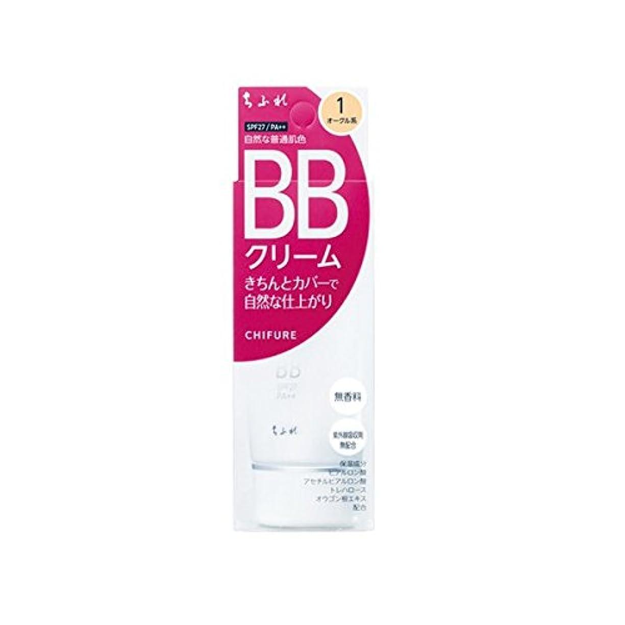 摩擦溶かす州ちふれ化粧品 BB クリーム 1 自然な普通肌色 BBクリーム 1