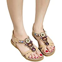 Start Women's Summer Bohemia Ful Bead Sandals Shoes